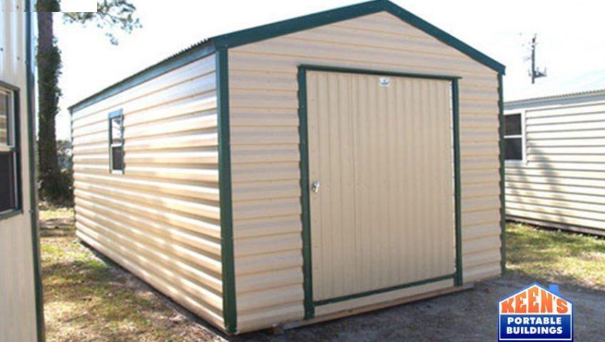 Keens-Buildings-Metal-Shed-12x20-60-door-storage-building-4