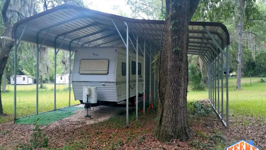 18X41 RV Cover with a Lean to