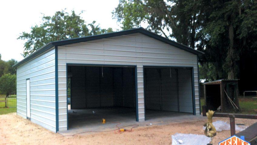 2 Door Steel Garage with Rollup Doors