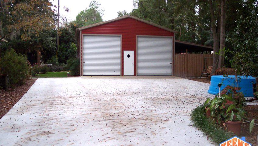 2 Port Steel Garage Front Elevation 2