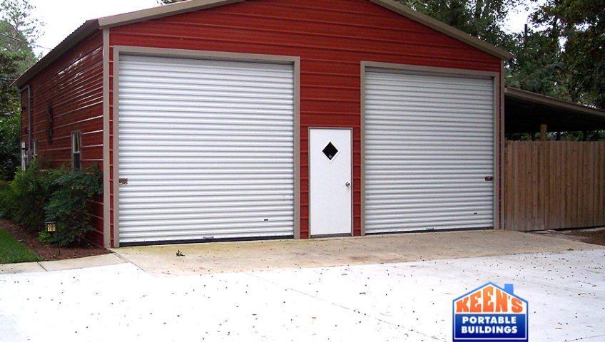 2 Port Steel Garage Front Elevation