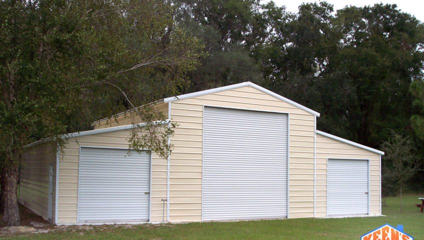 3 Port Steel Garage Front Elevation