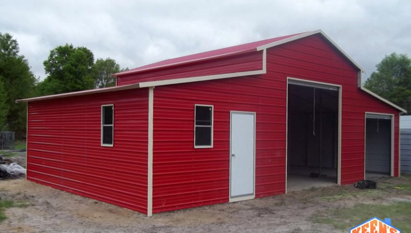Barn with 2 Rollup Garage Doors View 2