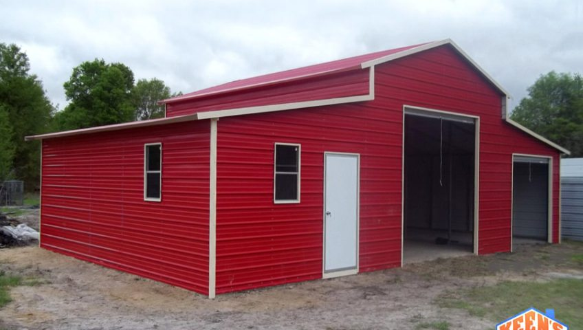 Barn with 2 Rollup Garage Doors View 3