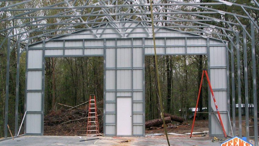 Commercial steel building project 40X60 Framing 5