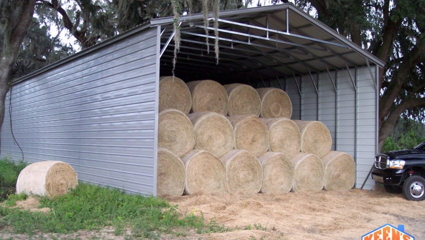 Hay Barn Front and Side View