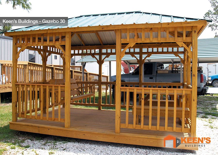 Keens-Building-Gazebo-30-11x16-with-Table-and-Swing