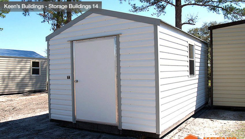 Keens Buildings 10x16 Storage Shed 14