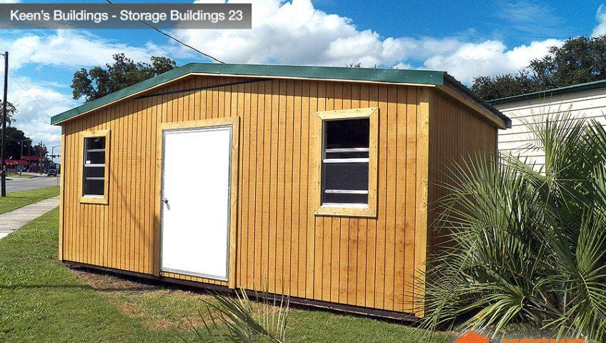 Keens Buildings 12x16 Storage Shed Wood 23
