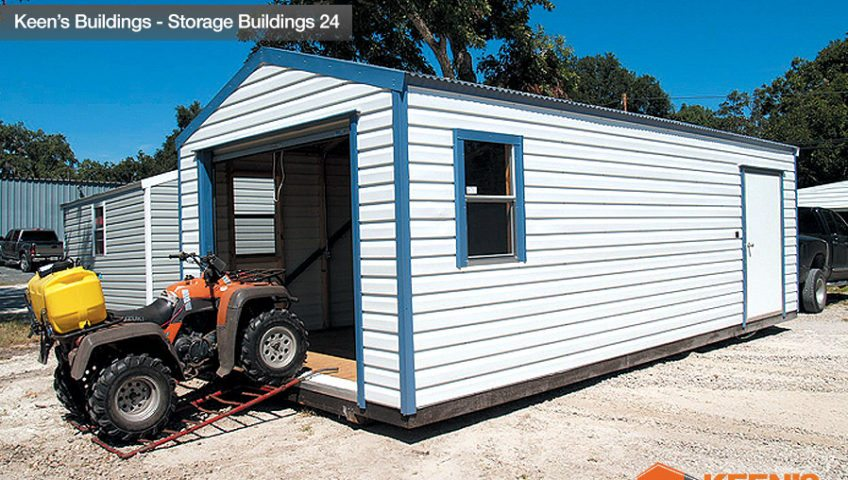 Keens Buildings 12x20 Outdoor Shed Side view 24