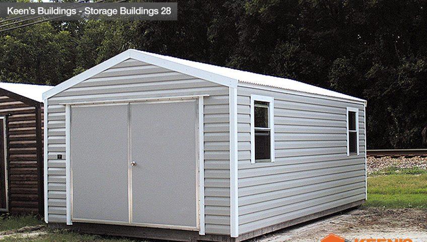 Keens Buildings 12x20 Storage Shed 28