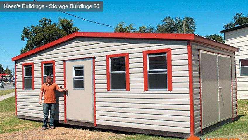 Keens Buildings 12x24 Outdoor Storage Building with 1 walk in door 30