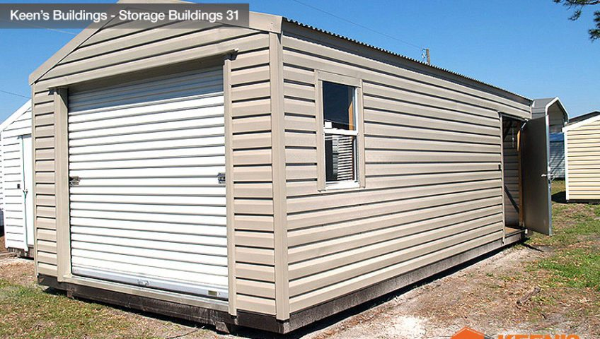 Keens Buildings 12x24 Storage Building Shed with one roll up door 31