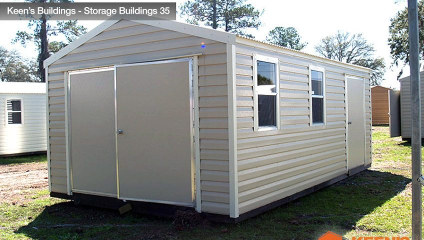 Keens Buildings 12x24 Storage Shed view 1 35