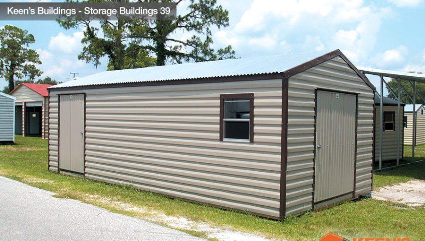 Keens Buildings 12x30 Storage Building 1 rollup door 39