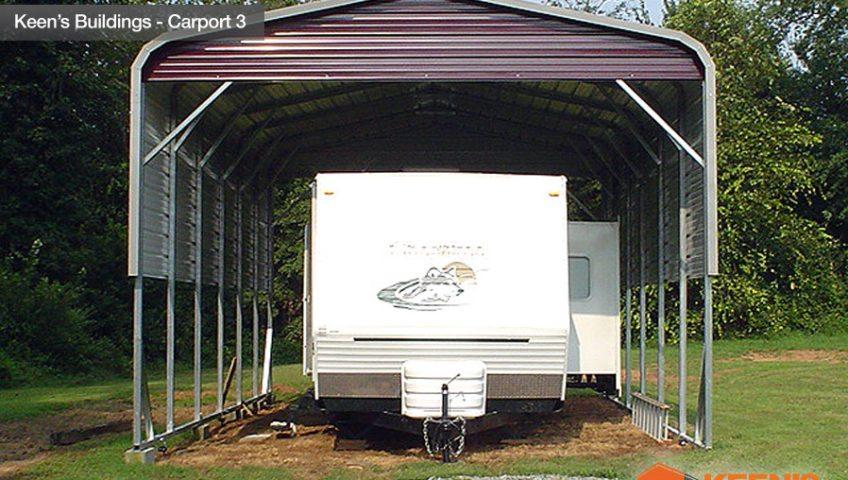 Keens Buildings 5th Wheel Storage carport 3