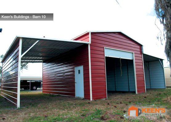 Keens-Buildings-Barn-with-one-roll-up-garage-door-10