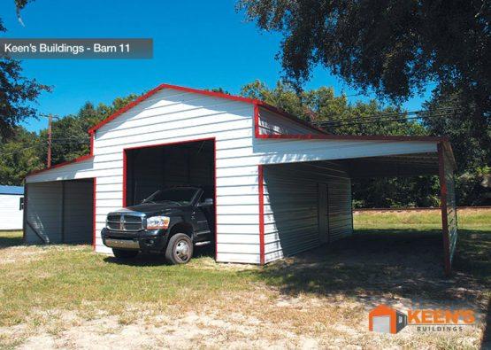 Keens-Buildings-Barn-with-roll-up-garage-door-11