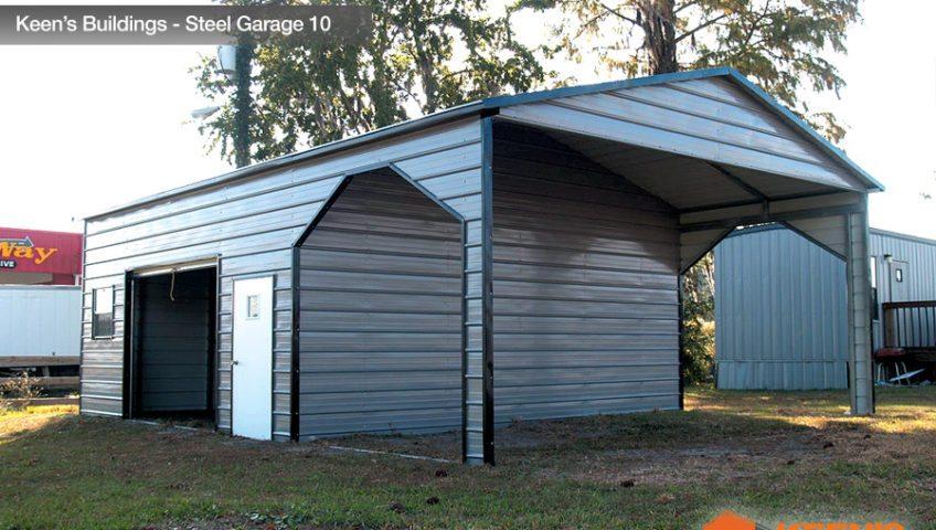Keens Buildings Steel Garage 10 22x31