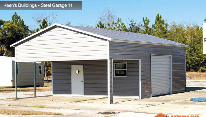Keens Buildings Steel Garage 11 22x31