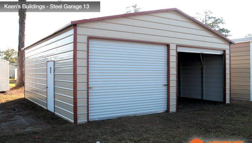 Keens Buildings Steel Garage 13 24x26