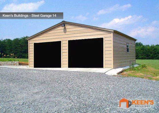 Keens Buildings Steel Garage 14 26x31 Boxed Eave Garage Model