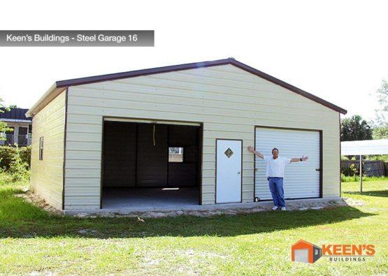 Keens Buildings Steel Garage 16 30x26