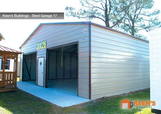 Keens Buildings Steel Garage 17 30x26