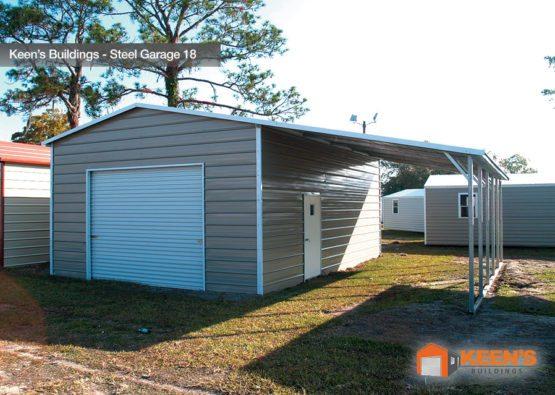 Keens Buildings Steel Garage 18 30x26