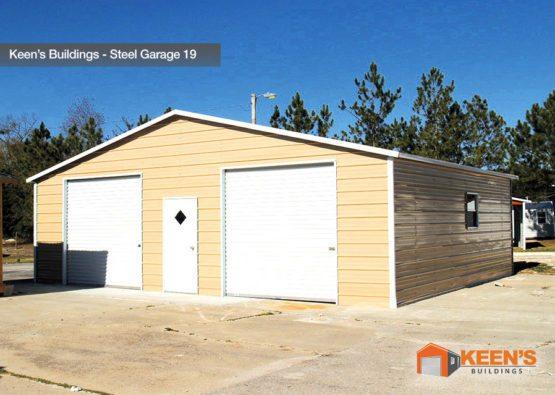 Keens Buildings Steel Garage 19 30x26