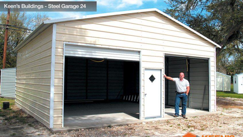 Keens Buildings Steel Garage 24