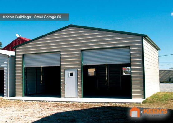 Keens Buildings Steel Garage 25