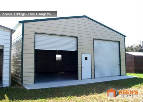 Keens Buildings Steel Garage 26