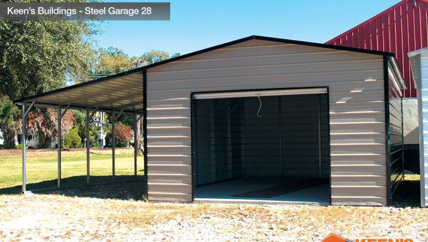 Keens Buildings Steel Garage 28