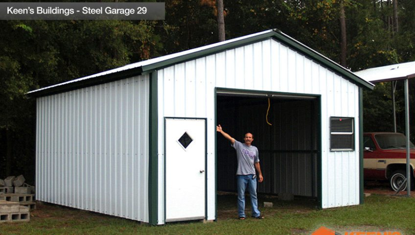 Keens Buildings Steel Garage 29