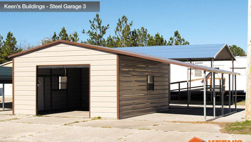 Keens Buildings Steel Garage 3 18x26