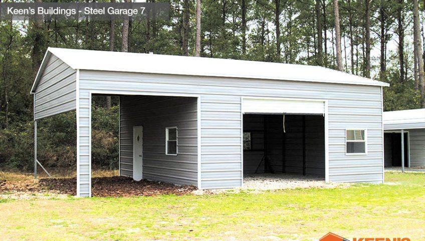Keens Buildings Steel Garage 7 22x31 view 2