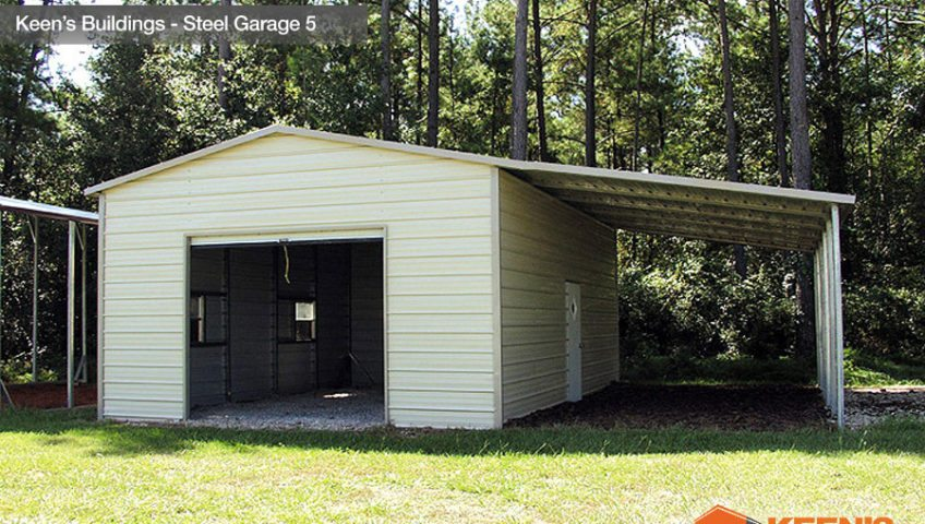 Keens Buildings Steel Garages 5 18x26 with 12x26 Lean to