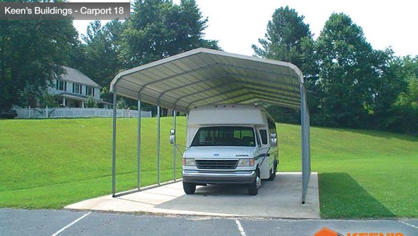 Keens Buildings Steel rounded corners carport 18