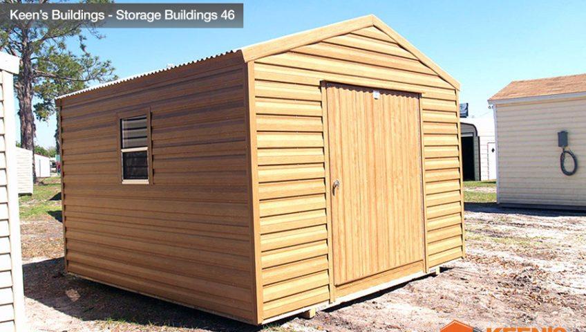 Keens Buildings Storage Shed Cedar Look 46