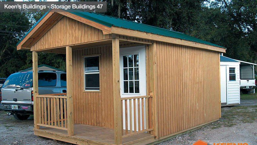Keens Buildings Storage Shed Custom Porch Model 47