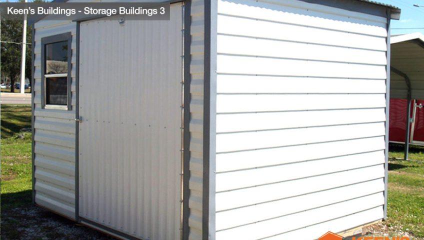 Keens Storage Buildings 8x10 Storage shed side view 3