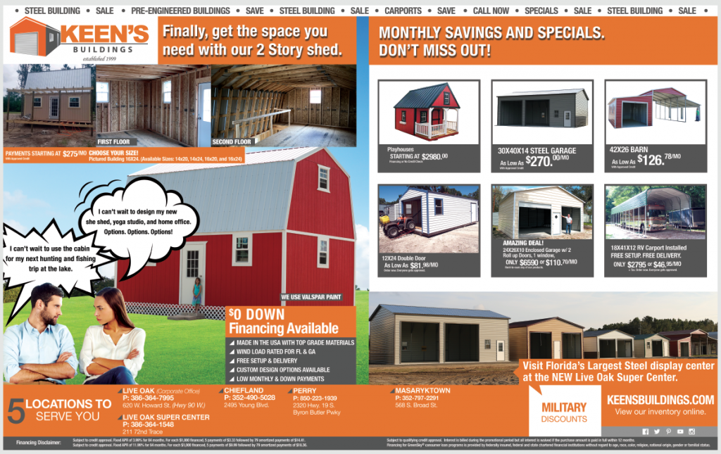 Beat the Summer Rush and Order Your-Keens-Building-Storage-Shed-Today